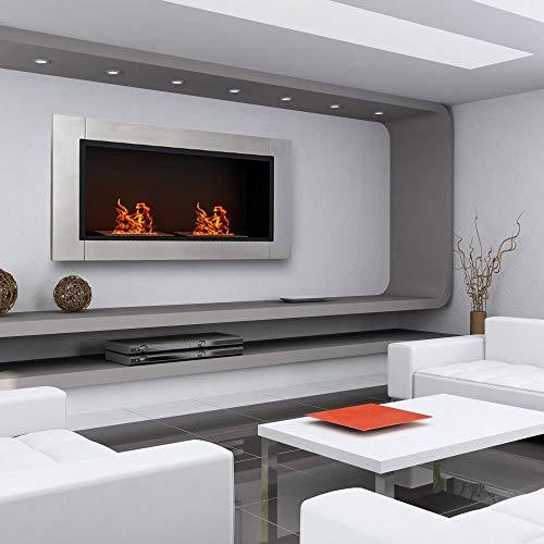 Manhattan Bioethanolkamin in modernem Design, für Wand, Tisch, Edelstahl, Inneneinrichtung -