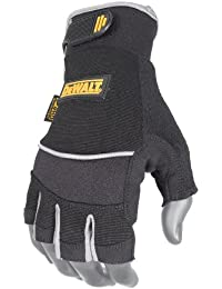 DeWalt DPG230L Technicians Fingerless Synthetic Leather Glove, Large