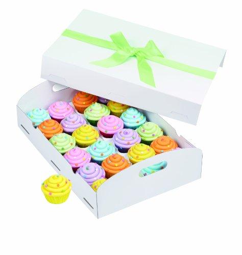 Wilton Cupcake-Box Faltbar tray-24Hohlraum, weiß 1/Pkg, andere, mehrfarbig
