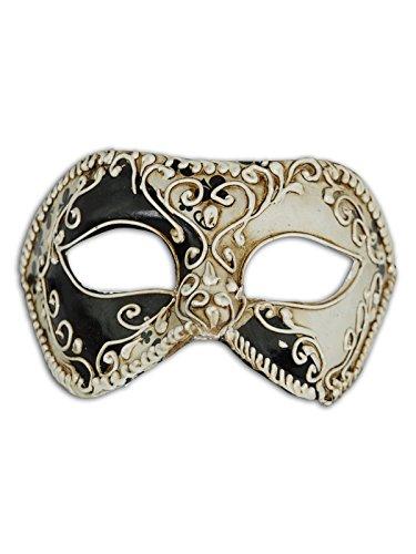 Venetian Augenmaske Colombina Karten für Männer und Frauen (fiori)