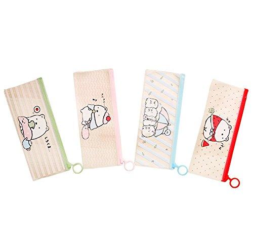 Tasche fablcrew 4pcs Multifunktionale PVC-Bleistift Box für Stifte-Handtasche der Comic 21.3* 9.2cm 4-teilig verschiedene Farben