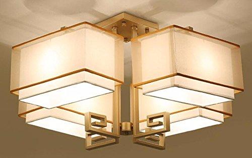 LighSCH Deckenleuchten Modernes minimalistisches Bronze 55 * 55 * 39cm Schlafzimmer Lampe Lampen