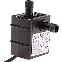 ANSELF - Bomba de Agua / Aceite / Lquido para Fuente Sumergible Acuario Circulacin Impermeable & Sin Cepillo (Max.Lift:2.5m,USB5V,2.3W,Mini micro)