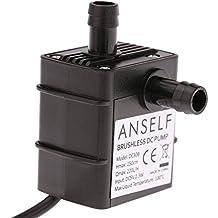 ANSELF - Bomba de Agua / Aceite / Lquido para Fuente Sumergible Acuario Circulacin Impermeable &amp