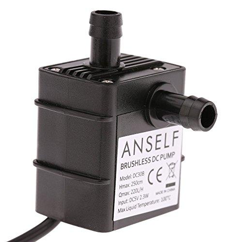 Anself USB Wasserpumpe Teichpumpe für Brunnen Aquarium und Modellbau 220L / H Auftrieb 250cm DC5V