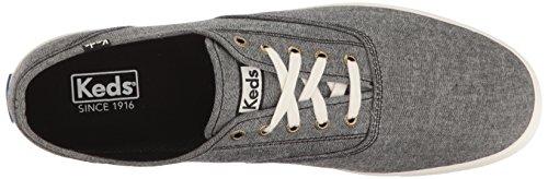 Keds Men's Champion Original Fashion Sneaker Chambray Black