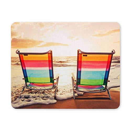 Luancrop Sillas de Playa Hawaianas en Sunset Rectangle Antideslizante Caucho Cómodo Cojín...