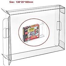 WiCareYo Funda de caja clara 10pcs para la caja del cartucho de juegos SNES N64