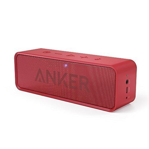 Anker Altoparlante Bluetooth SoundCore - Speaker Portatile Senza Fili con Microfono Incorporato e Doppia Cassa, Audio di Alta Qualità con Bassi Puliti ed Incredibile Durata di Riproduzione di 24 Ore ...