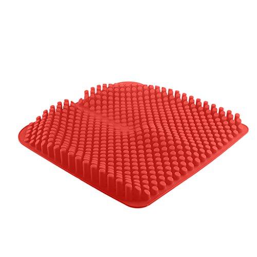 Preisvergleich Produktbild QIHANGCHEPIN 3D-Silikon-Autositz - Comfort Cooling Gel Chair Sitzkissen bietet Entlastung für den unteren Rücken,  Steißbein,  Ischias,  Steißbein oder Hüfte Schmerzen - Air Orthopädische Design Sitze für Rollstühle,  Autos,  Bürostühle (schwarz / rot) ( Farbe : Rot )