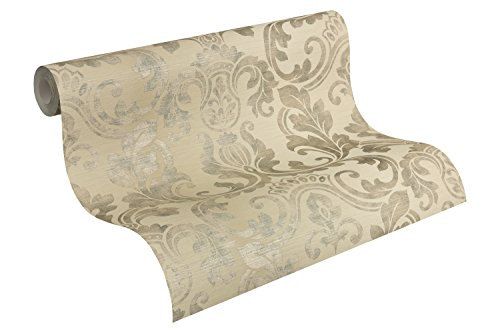 A.S. Création Tapete Hollywood in Vintage Optik neo barock glamourös klassisch 10,05 m x 0,53 m beige Made in Germany 954173 95417-3