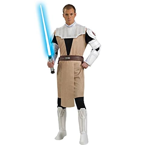 Obi-Wan Kenobi Deluxe Herrenkostüm aus Star Wars, Größe:M/L (Padawan Star Wars Kostüm)