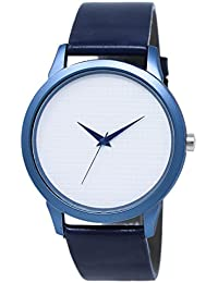 Snapcrowd Attractive Stylish Sport Look Blue Dial Stylish Blue Leather Strap Analog Watch For Men & Boys
