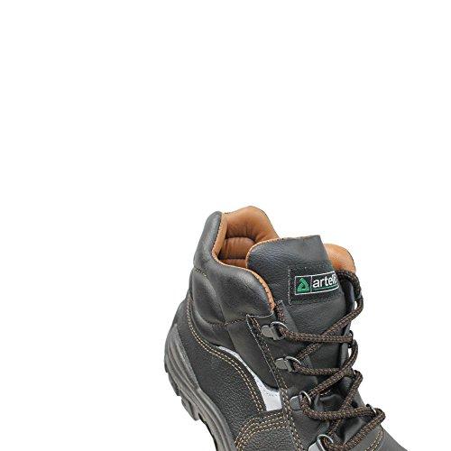Artelli Napoli S3 SRC Sicherheitsschuhe Arbeitsschuhe Trekkingschuhe hoch Schwarz Schwarz