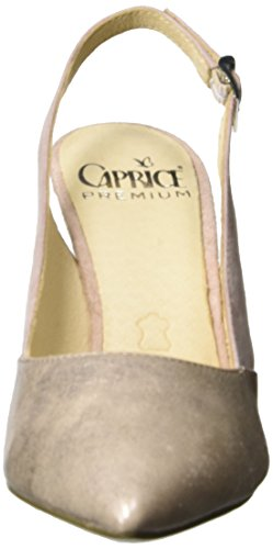 Caprice 29604, Sandali con Zeppa Donna Rosa (Rose Met.comb)