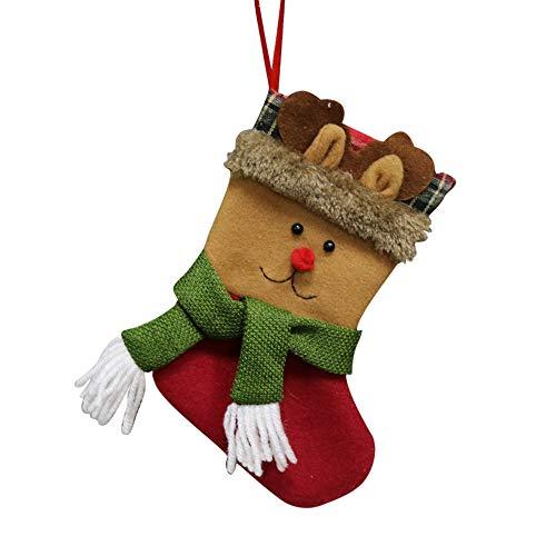 Quaan Süßigkeiten Tasche Weihnachten Geschenke Baum Ornament Strumpf Weihnachtsmann Claus Schneemann Socke Dekor Blume Socken Baumwolle Niedlich Festival Holländer Zubehör lieblich