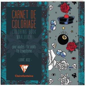 Clairefontaine Malbuch für Erwachsene 20x20cm 120g/qm Tatoo Motive