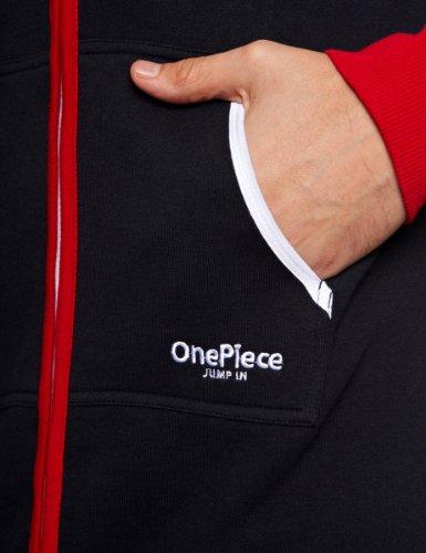 Onepiece Unisex Jumpsuit Marius, Mehrfarbig (Red/Navy/White) - 3