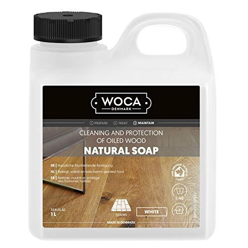 Woca Holzbodenseife Weiß 1 Liter für weiß geölte und gewachste Böden