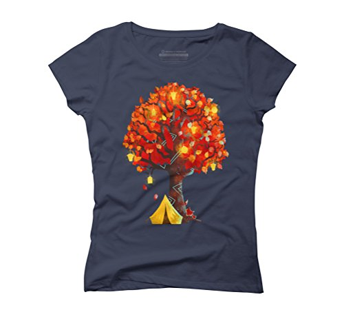 Camping Women's Graphic T-Shirt - Design By Humans Navy