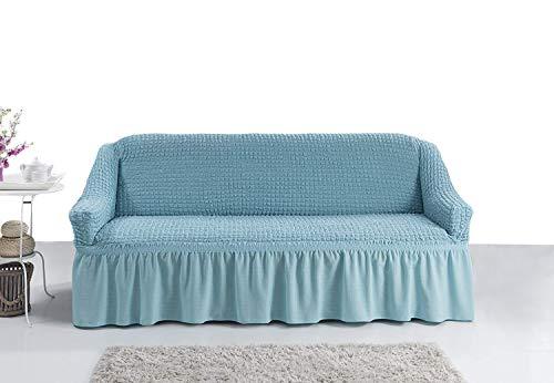 My Palace Bielastisch 2 Sitzer Bezug, 2 Sitzer Husse. Sehr elastische Auflage in blau/hellblau. Sofabezug Hussen Sofahusse Sofa Husse/Stretch Hussen/Sofahusse 2-Sitzer/Sofabezug 2 Sitzer