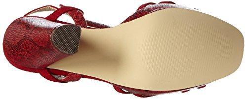 Blink  BlilianL, Sandales Bout ouvert femme Rouge - Rot (31 Red)