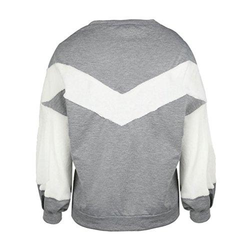 WanYang Femmes Sweatshirt De Haute Qualité Mode Casual Sweat Epais A Manches Longues Automne Et Hiver Pullover Gris
