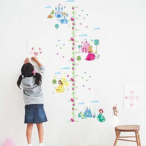 Wandaufkleber Cartoon Cartoon Prinzessin Schloss Wachstum Chart Kinderzimmer Wandbild Art Home Pvc Diy Abziehbilder Höhe Maßnahme Mädchen Geschenk (Für Chart Prinzessin Mädchen Wachstum)