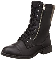 Call It Spring Womens Quasano Black Synthetic Boots - 7 UK/India (40 EU) (9US)