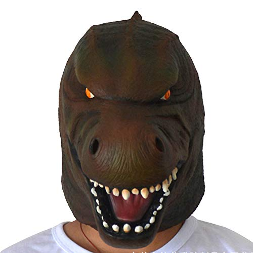 Neuheit Halloween Kostüm Party Latex Tier Maske Dinosaurier Kopfbedeckung Horror Maske Party,Godzilla - 100 Jahr Alter Mann Kostüm