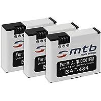 3 Baterías [1160 mAh | 3.8V | Li-Ion] para Xiaomi mijia Mini 4K | reemplaza Xiaomi RLDC01FM