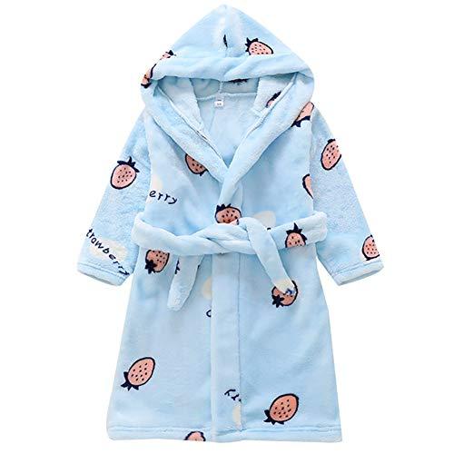 Baby Bademantel Schlafanzüge mit Kapuze, Kinder Jungen Mädchen Niedlich Karikatur Pyjamas kapuzenhandtuch 100% Baumwolle Nachtwäsche