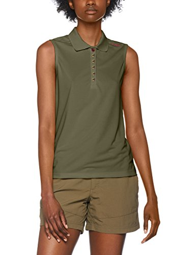 CMP Damen Polo T-Shirt, Avocado-Borgogna, 48