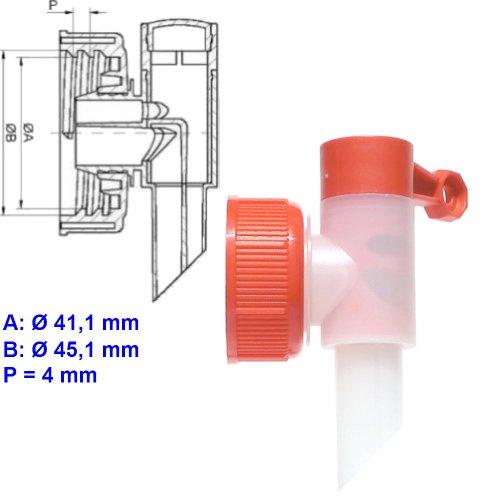 Preisvergleich Produktbild Dosierhilfe Profi Power DIN 45 Abfüllhahn für 5 L, 10 L Kanister