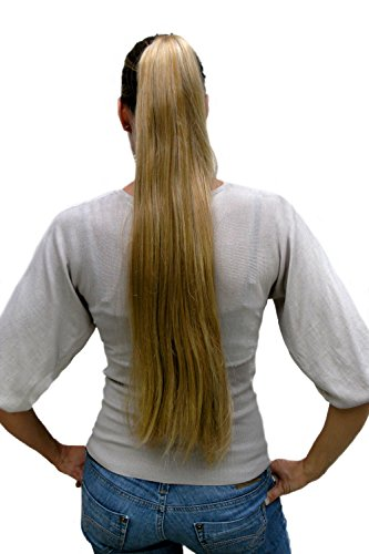 Haarteil/Zopf, blond,sehr lang,glatt T113-611B ca.70 cm (Blonde Perruque Halloween)