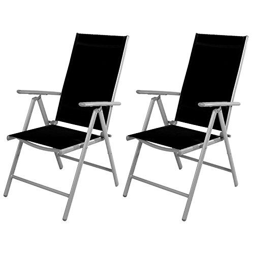 2 PZ Sedia da giardino – sedia con schienale alto 7 posizioni ...