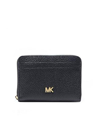 Michael Kors MICHAEL Damen kleinen Kies Leder-Geldbörse Schwarz Ein Größe (Kies Womens)