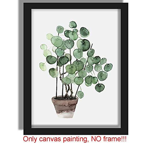 SparY Natur Tropischer Pflanzen Blatt Leinwand Kunst Motiv Gang Wohndeko - Wie Bild Show, Style 8 (Motiv Gang)