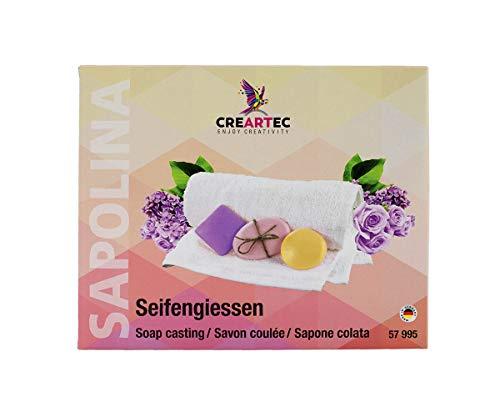 CREARTEC Sapolina Seifengießen - zweifarbige Glycerinseife - mit Seifendurftöl, Seifenfarben und Seifenform - Herstellung gut duftender Seifen - Made in Germany
