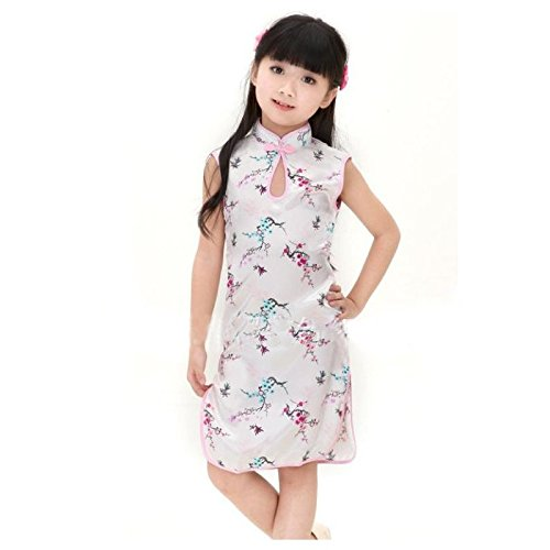Kleid Chinesische Kostüm Outfit Kinder, Baby 0bis 12Jahre 1/2Jahre, 2/4Jahre, 4/6Jahre, 6/8Jahre, 8/10Jahre, (Kindes Kostüm Chinesischen)