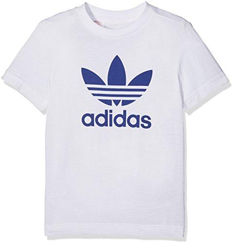 Adidas trefoil tee maglietta, bianco (bianco/tinmis), 122