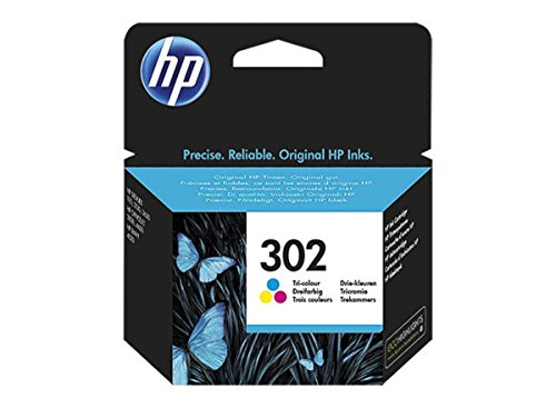 HP original - HP - Hewlett Packard OfficeJet 4650 (302 / F6U65AE) - Tintenpatrone (cyan, magenta, gelb) - 165 Seiten - 4ml -