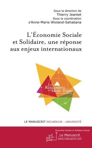 L'conomie sociale et solidaire, une rponse aux enjeux internationaux