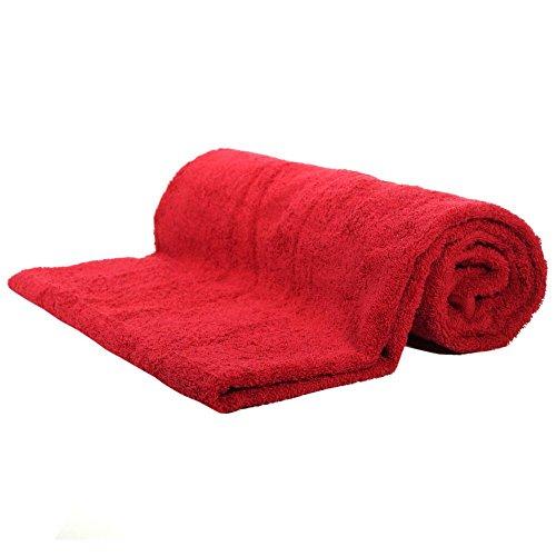 Saunatuch Rot Frottee Baumwolle 500g/m2 Handtuch 80 x 200 cm