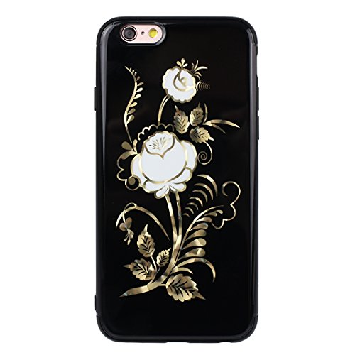 Hülle iPhone 6S Plus, iPhone 6 Plus Hülle, Blumen Design, Moon mood® Weiche TPU Rahmen mit Hart PC Zurück Schutzhülle für Apple iPhone 6 Plus/ iPhone 6S Plus Schutz Etui Cover, Flexibel Case Cover Bac Blume - 5