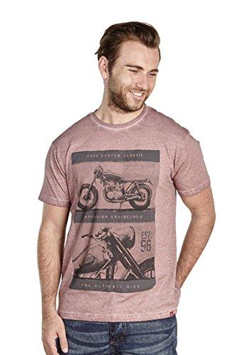 D555Motorrad T-Shirt, Blau oder Rost Oil Wash 3x l-6x l Rust