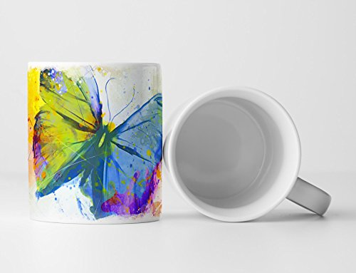 Schmetterling Tasse als Geschenk, Design Sinus Art