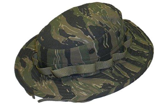 GOVERNENT Contractor US Military Boonie Hat Made in USA, Herren, Tiger Stripe, 7 3/4 Tru Spec Tiger Stripe