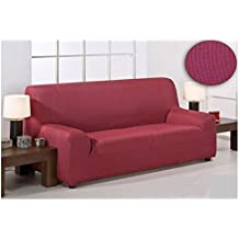 DABUTY, SL Funda para sofa elastica tres plazas Color Rojo. De 170 a 260 cm