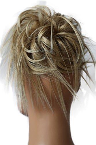 PRETTYSHOP XXL Haarteil Haargummi Hochsteckfrisuren Brautfrisuren VOLUMINÖS gewellter unordentlicher Dutt blond mix #27BT88 G13F